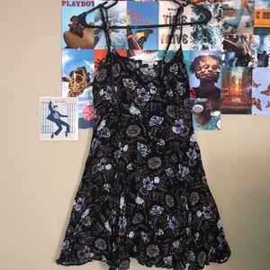 American Eagle black flower dress